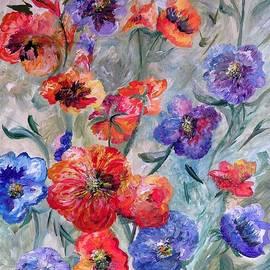 Eloise Schneider - Flowers in a Field of Green