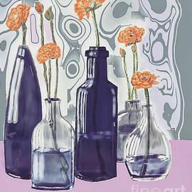 Flowers in bottle  by Eman Elmahdy