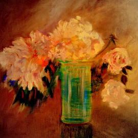 Flowers in glass by Henryk Gorecki