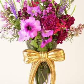Sandra Foster - Flowers In Ribboned Vase