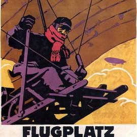 Studio Grafiikka - Flugplatz Wanne Herten - Airfiled - Germany - Retro travel Poster - Vintage Poster