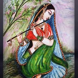 Harsh Malik - Flute playing in - Krishna Devotion