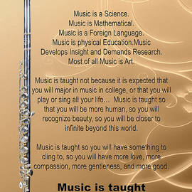 Flute Why Music Photographs Or Pictures For T-shirts 4823.02 by M K Miller