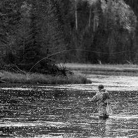 Steve Gadomski - Fly Fishing Yellowstone WY B W
