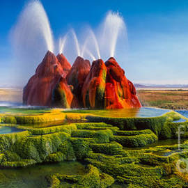 Inge Johnsson - Fly Geyser Panorama