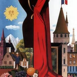 Fly TWA France - Trans World Airlines - Airways, Airplane - Retro travel Poster - Vintage Poster - Studio Grafiikka