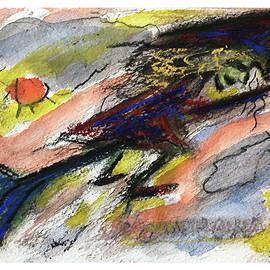 Flying Halloween Witch by Katt Yanda