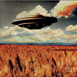 Raphael Terra - Flying Saucer Pop Art by Raphael Terra