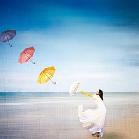 Louloua Asgaraly - Flying Umbrellas