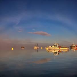 Rick Berk - Fogbow in Lubec Harbor