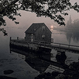 Foggy Cove and Shanty by Marty Saccone