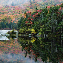 Jeff Folger - Foggy foliage morning Kinsman Notch