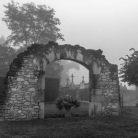 Foggy French Graveyard by Georgia Fowler