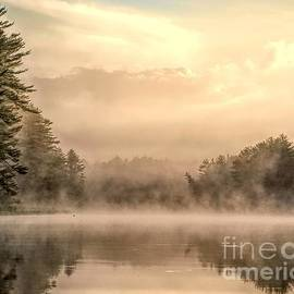 Foggy Morning on the Androscoggin River by Jan Mulherin