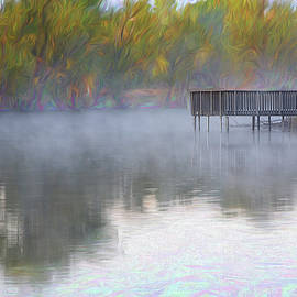 Foggy Morning on the pond by John Schultz