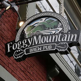 Foggy Mountain Brew Pub Sign by Jeff Roney