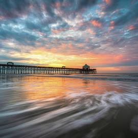 Folly Beach SC Ocean Seascape Charleston South Carolina Scenic Landscape by Dave Allen