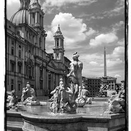 Fontana del Moro.Rome.Italy by Jennie Breeze