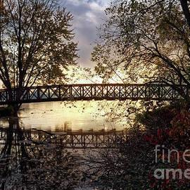 Footbridge With Morning Fog Winona Minnesota Photo by Kari Yearous