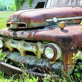 Ford Truck Close Up by Lorraine Baum
