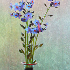 Nina Silver - Forget Me Not Flower Arrangement