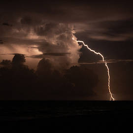 Forked Lightning Bolt Delray Beach Florida by Lawrence S Richardson Jr