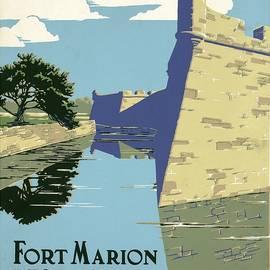 Studio Grafiikka - Fort Marion National Monument - St.Augustine, Florida - Retro travel Poster - Vintage Poster