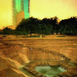 Fort Worth Impressions Water Gardens II by Joan Carroll