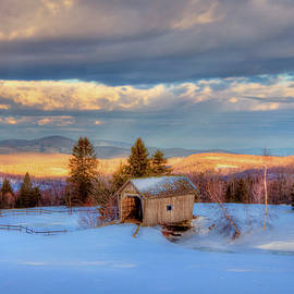 Joann Vitali - Foster Covered Bridge in WInter - Cabot, Vermont