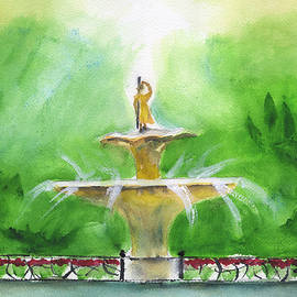 Frank Bright - Fountain At Forsyth Park