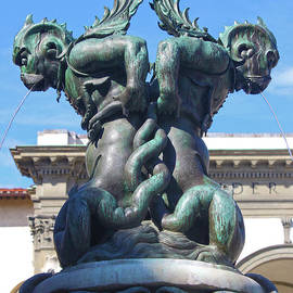 Fountain Of The Sea Monsters In Florence Italy by Gregory Dyer