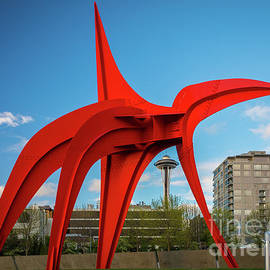 Four Legged Red and Space Needle - Inge Johnsson