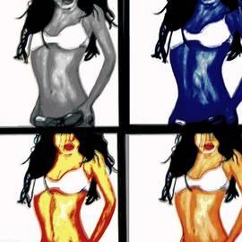 Four of a kind pop art by Larry E Lamb