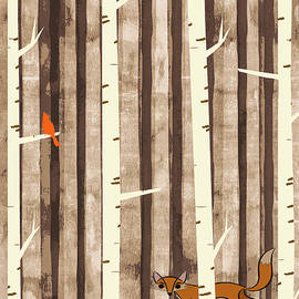 Fox and Bird by Susan Eileen Evans