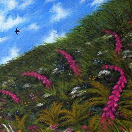 Foxglove Hedgerow by Philip Harvey