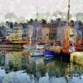 France Fishing Village by Claire Bull