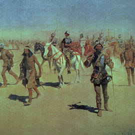 Francisco Vasquez de Coronado Making his Way Across New Mexico by Frederic Remington