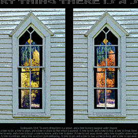 Robert J Sadler - Frankford Church Window In Four Seasons