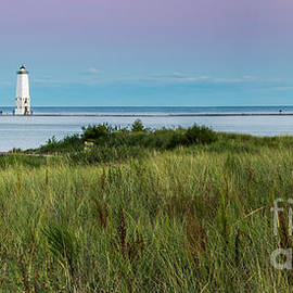 Frankfort North Breakwater Lighthouse from Elberta - Twenty Two North Photography