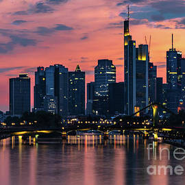 Frankfurt Germany Sunset Palette  by Norma Brandsberg