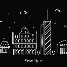Inspirowl Design - Frankfurt Skyline Travel Poster