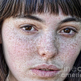 Freckle Face Close Up II in color by Jim Fitzpatrick