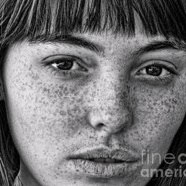 Freckle Face CloseUp II by Jim Fitzpatrick