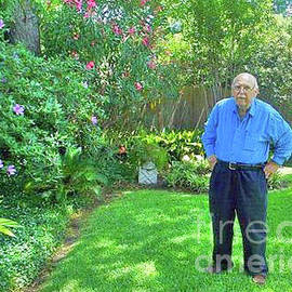 Fred Jinkins - Fred in his garden. 2013.