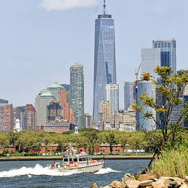 Freedom Tower and New York CIty's Finest by Geraldine Scull