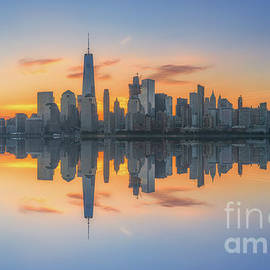 Michael Ver Sprill - Freedom Tower Sunrise Reflections