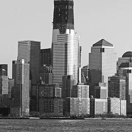 Paul Ward - Freedom Tower Under Construction in black and white