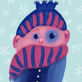 Freezing Kid In Winter by Boriana Giormova