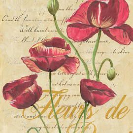French Pink Poppies by Debbie DeWitt