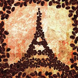 French Roast Eiffel Tower by Irina Sztukowski